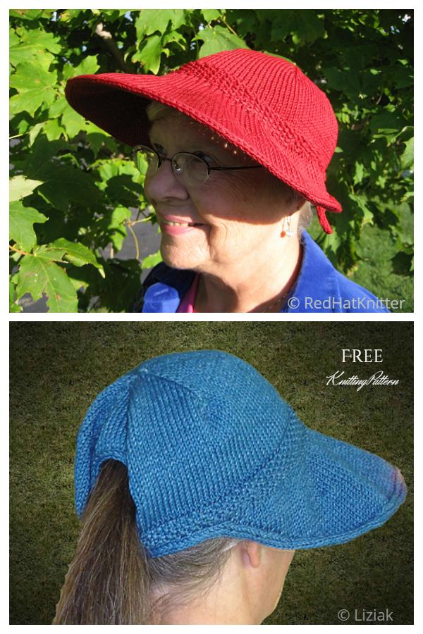 Pleteni poklopac štitnika od sunca Besplatni uzorak za pletenje