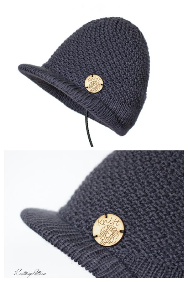 Uzorak pletenja kapice za vizir