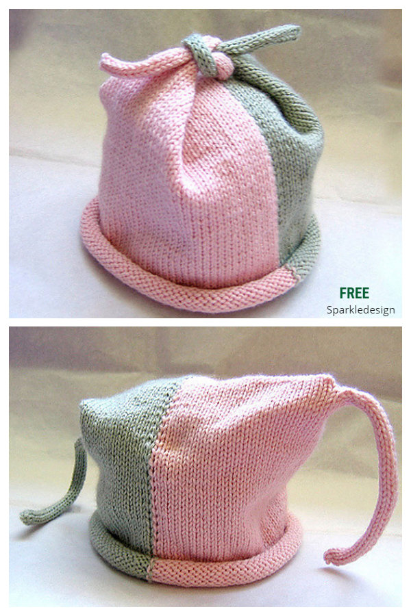 Baby Top Knot Hat Free Knitting Patterns