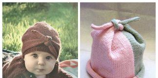 Baby Knot Hat Free Knitting Patterns