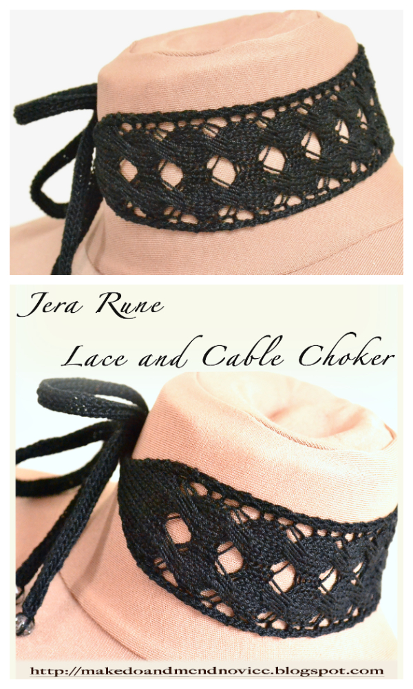 Jera Rune Lace Choker Free Knitting Patterns