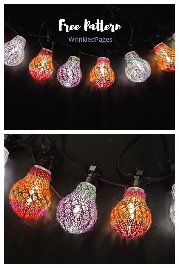 Party svjetla zasjenjuju uzorke besplatnog pletenja
