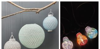 Party Lights Shade Free Knitting Patterns
