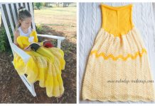 Princess Dress Blanket Free Knitting Pattern