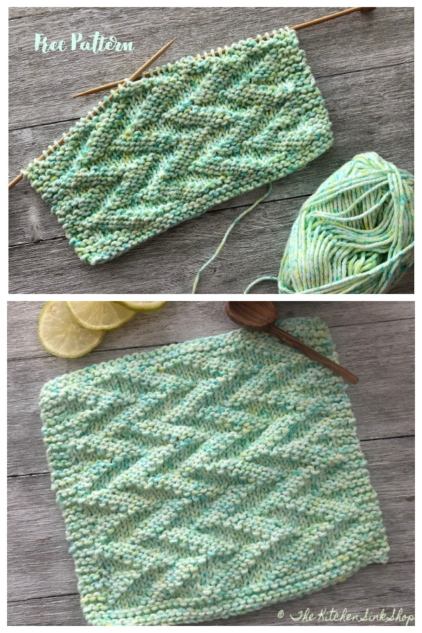 Simple Textured Double Dutch Dishcloth Free Knitting Patterns