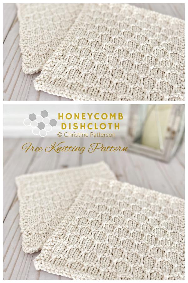 Honeycomb Dishcloth Free Knitting Patterns