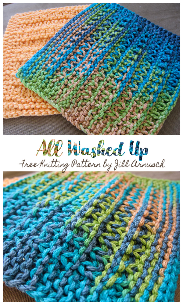 All Washed Up Dishcloth Free Knitting Patterns