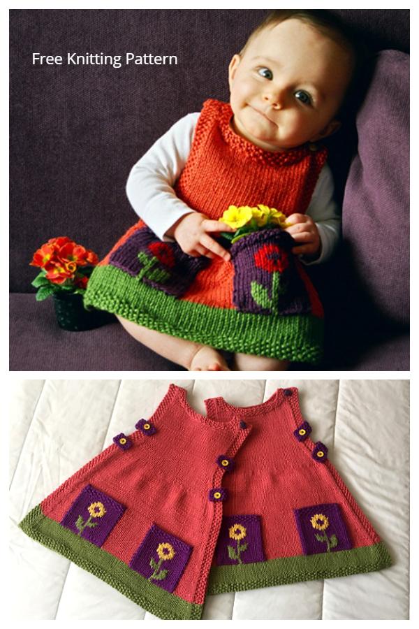 Anouk Baby Dress Pattern gratuito per maglieria