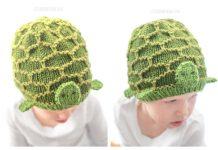 Baby Turtle Hat Free Knitting Pattern