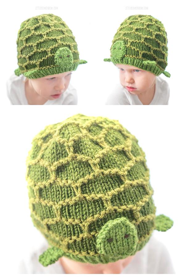 Motivo a maglia gratuito per cappello da tartaruga bambino