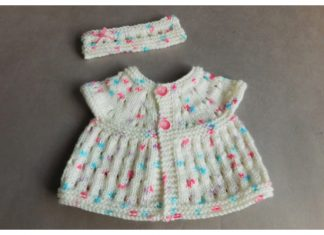 Carla Baby Top Headband Set Free Knitting Patterns