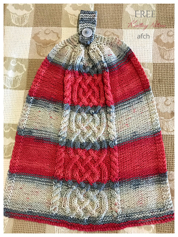 Celtic Cables Hand Towel Free Knitting Pattern