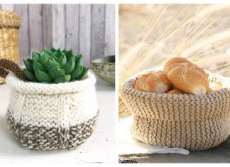 Easy Basket Free Knitting Patterns