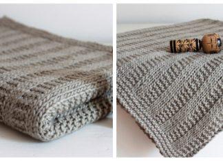 Garter Rib Baby Blanket Free Knitting Pattern