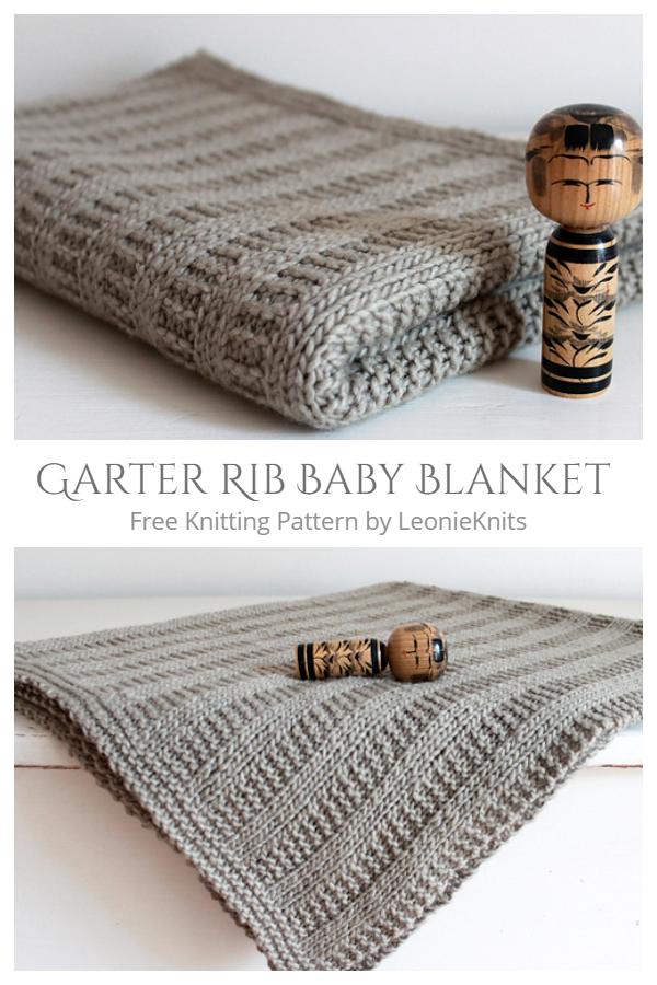 Giarrettiera a costine per neonato con motivo a maglia gratuito