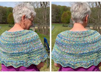 Hugging Poncho Free Knitting Pattern