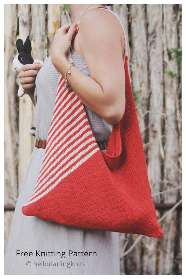 Tolt Folded Bag Free Knitting Pattern