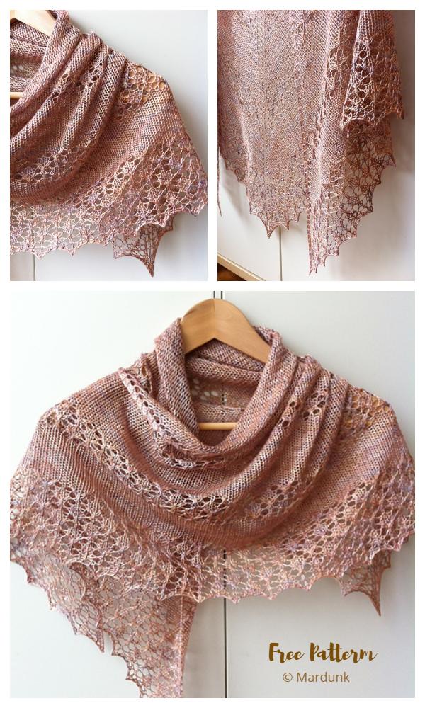 June Bunnies Shawl Free Knitting Pattern