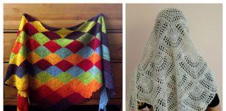 Knit Fan Shawl Free Knitting Patterns