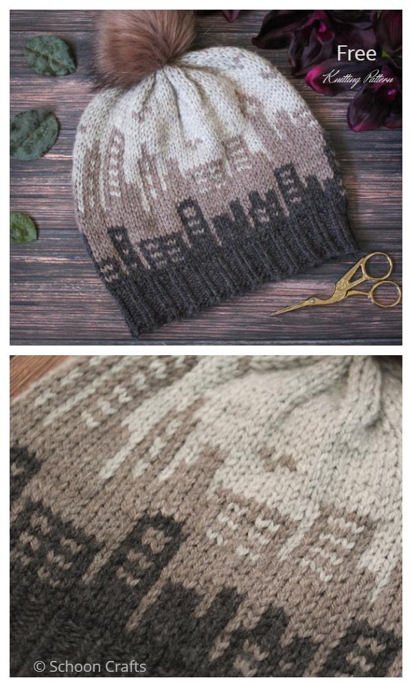 Uzorak pletenja besplatnog šešira Skyline