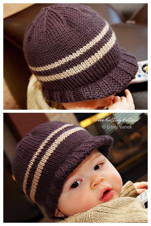Modelli di maglieria gratuiti per cappelli a tesa larga per neonato