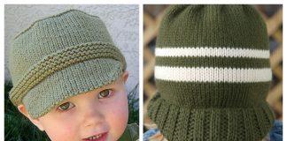 Little Boy Billed Sun Hat Free Knitting Patterns
