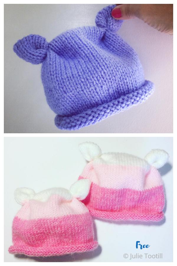 Made With Love Baby Hat Motivo a maglia gratuito