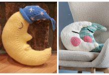 Moon Pillow Free Knitting Patterns