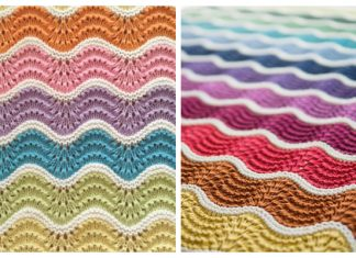 Pastel Rainbow Baby Blanket Free Knitting Pattern