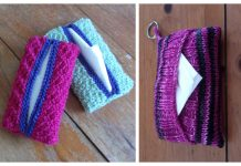 Knit Pocket Tissue Cover Free Knitting Patterns