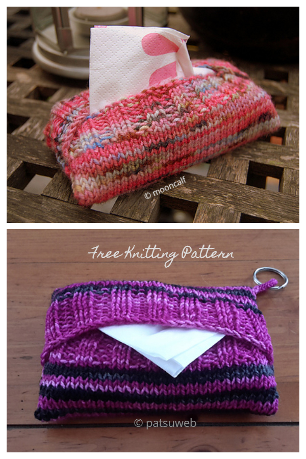 Knit Sweaters for Purse Size Tissue Packets Free Knitting Patterns