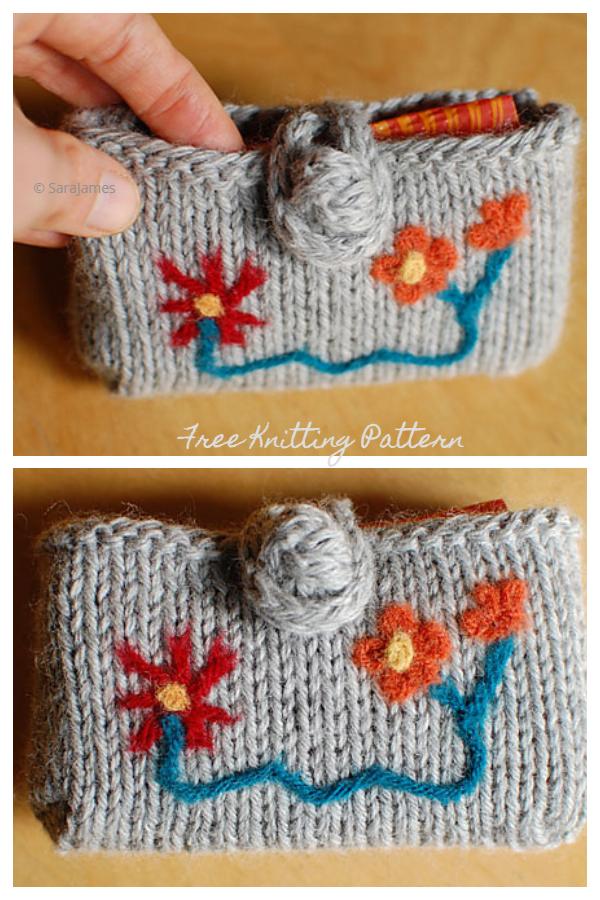 Knit Pocket Tissue Holder Free Knitting Patterns