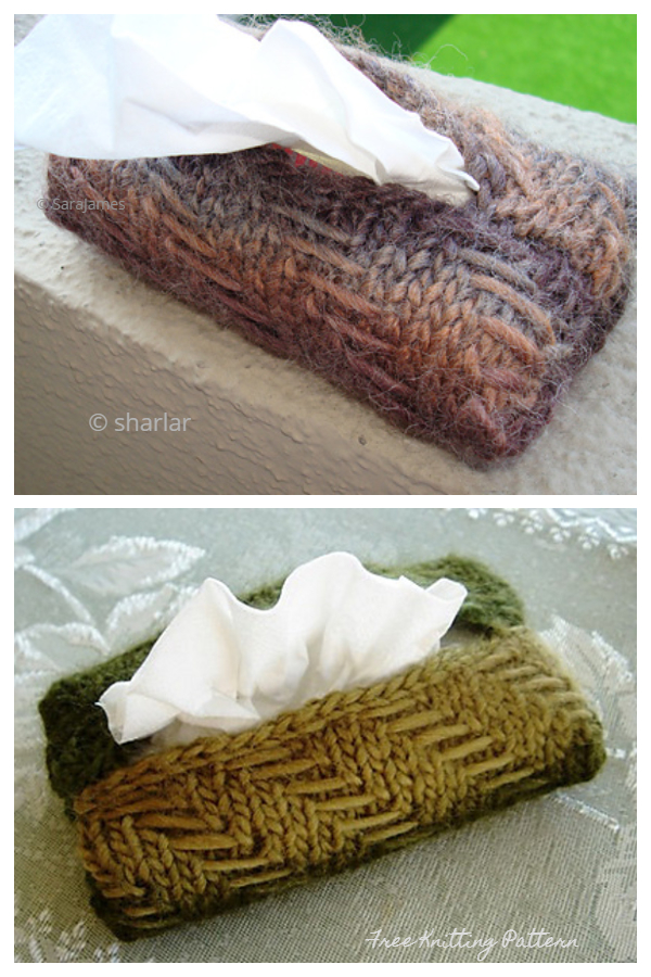 Knit Sniffles Tissue Cover Free Knitting Patterns