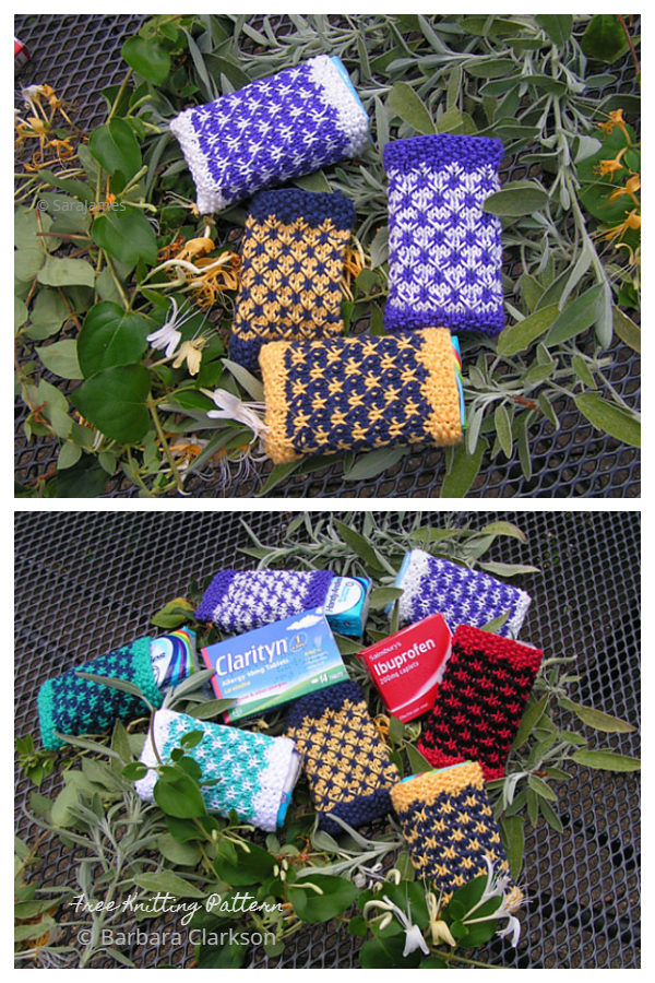 Knit Pocket Tissue Pack Cover Free Knitting Patterns