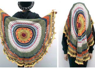 Ponyo On The Waves Shawl Free Knitting Pattern