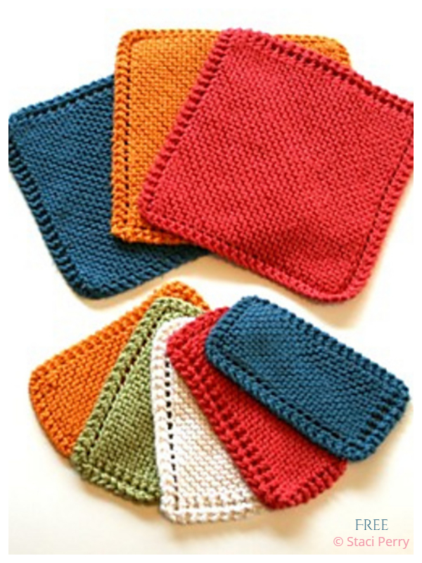 Simple Traditional Dishcloth Free Knitting Patterns
