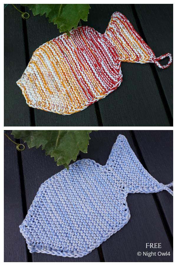 Simple Fishy Fish Washcloth Free Knitting Patterns