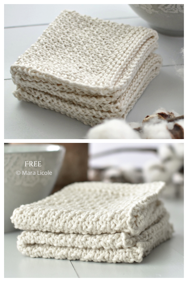 Simple Family Time Dishcloth Free Knitting Patterns