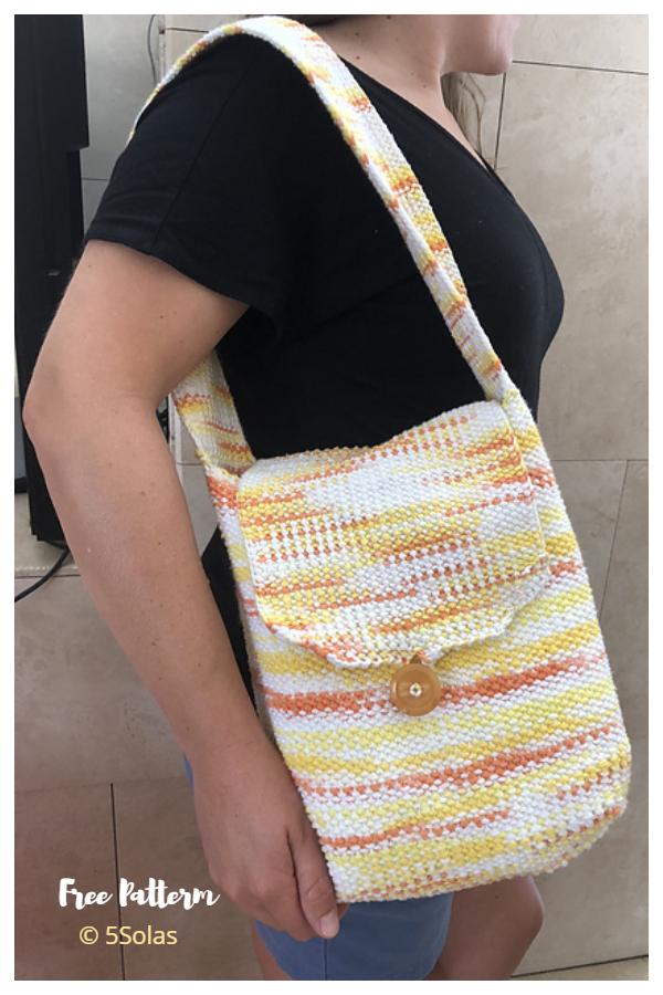 Borsa tote in maglia semplice Modelli gratuiti per maglieria