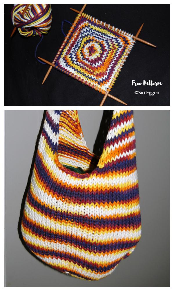 Modelli di maglia gratuiti Flower Power Bag