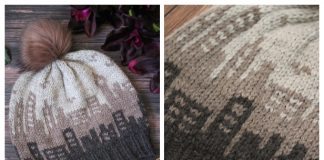 The Skyline Hat Free Knitting Pattern