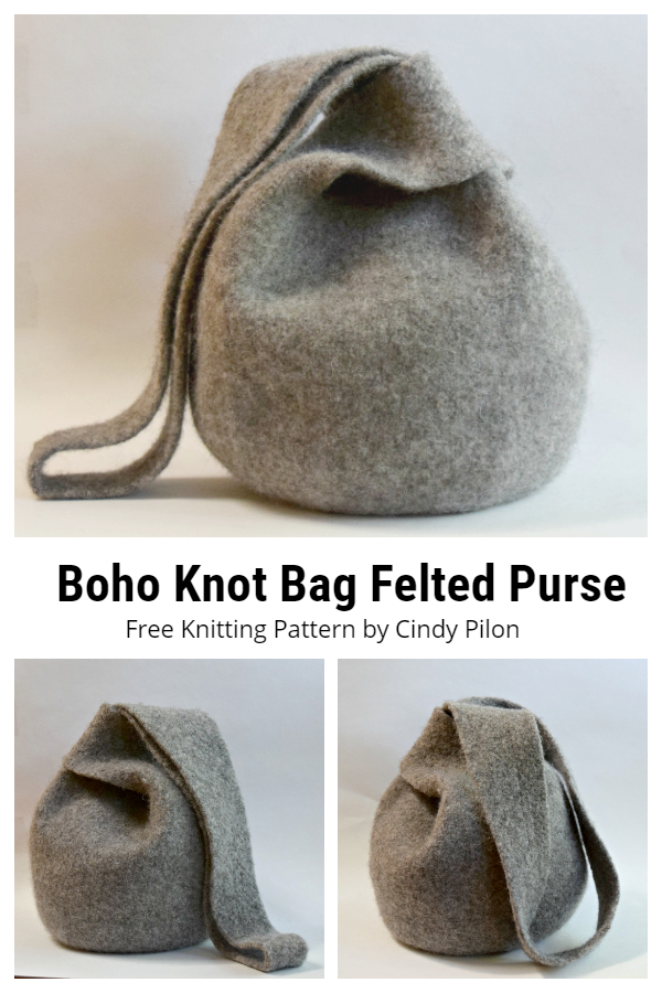 Boho Knot Bag Felted Purse Free Knitting Patterns