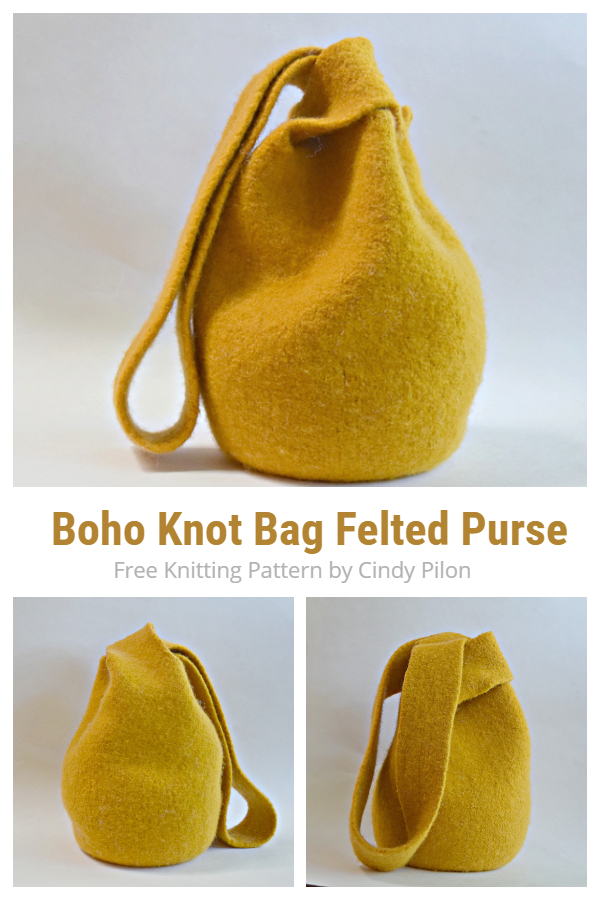 Knot Bag Felted Purse Free Knitting Patterns