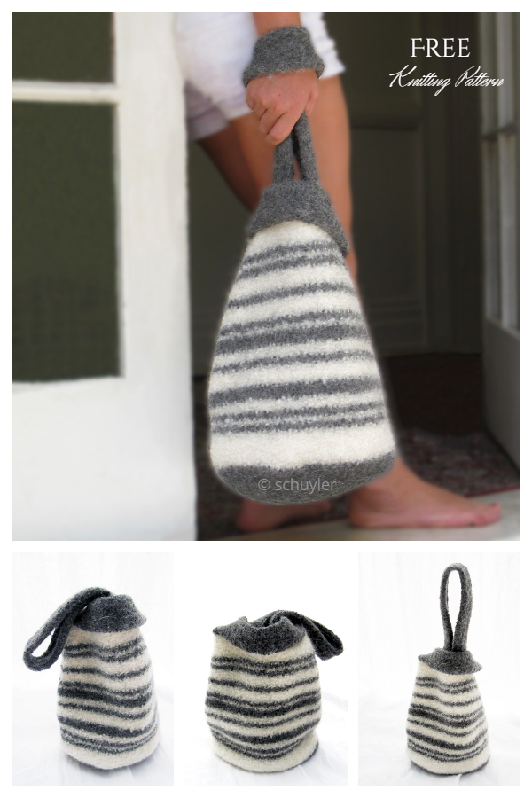 Felted Japanese Knot Bag Free Knitting Patterns