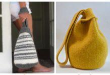 Japanese Knot Bag Free Knitting Patterns