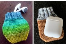 Knit Earbud/AirPod Pouch Free Knitting Patterns