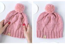 Knit July Hat Free Knitting Pattern