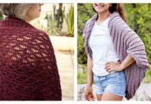 Lace Cocoon Shrug Cardigan Free Knitting Patterns