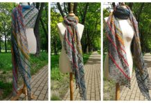 Long Heavy Sky Shawl Free Knitting Pattern