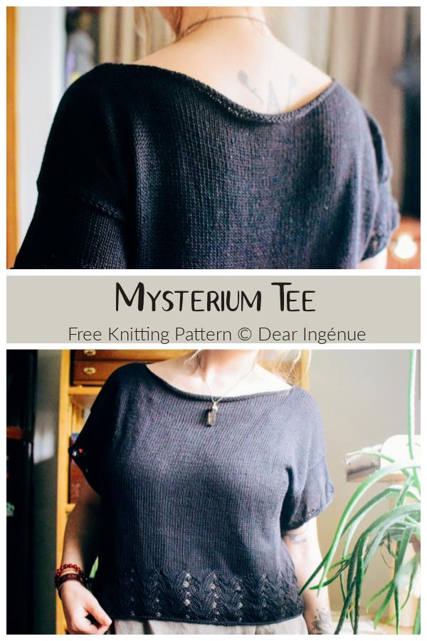 Mysterium Tee Top Free Knitting Pattern